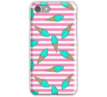 Colorful pastel pattern of ice cream  iPhone Case/Skin