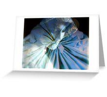 My blue light Greeting Card