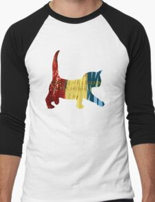Chameleon Cat Men's Baseball ¾ T-Shirt