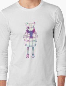 Ferret in Sweater  Long Sleeve T-Shirt