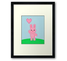 Cute Pink Bunny Framed Print