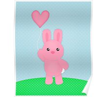 Cute Pink Bunny Poster