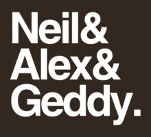 Neil&Alex&Geddy (DarkShirts) by oawan