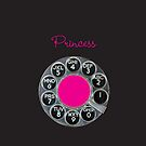Pink & Black Rotary Dial Princess iPhone Cover by shixa