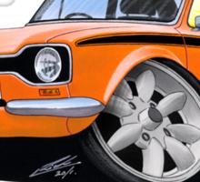 Ford Escort (Mk1) Mexico Orange Sticker