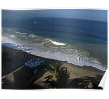 Olas Altas Beach in the early Morning - Playa Olas Altes en la Mañana Poster