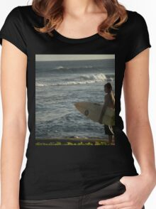 surfer boy Women's Fitted Scoop T-Shirt