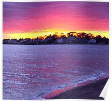 Connecticut Sunset Poster