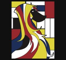 Mondrian dog Kids Tee