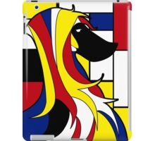 Mondrian dog iPad Case/Skin