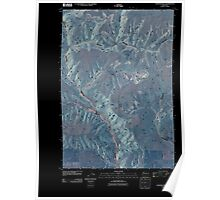 USGS Topo Map Washington State WA Goodnoe Hills 20110407 TM Inverted Poster