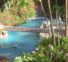 jungle pool Sticker