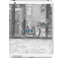 Cat Looking Out The Window In Winter iPad Case/Skin