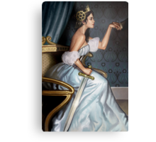 Steampunk Queen of Swords Metal Print