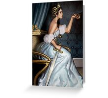 Steampunk Queen of Swords Greeting Card