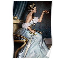 Steampunk Queen of Swords Poster