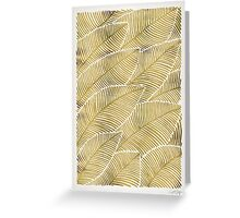Tropical Gold Greeting Card