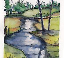 Little stream near Lake Farm by Santie Amery
