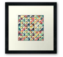 mosaic colorful retro tiles Framed Print