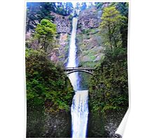 Multnomah Falls/Benson Bridge, Oregon Poster