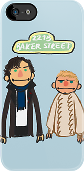Sherlockesame Street iPhone Case by inchworm