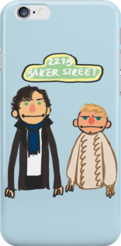 Sherlockesame Street iPhone Case by inchworm