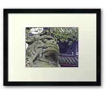 Lion of Emei Framed Print