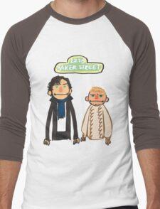 Sherlockesame Street Men's Baseball ¾ T-Shirt