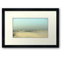 Monahans White Sand Hills ~ Desert Storm  Framed Print