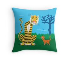 The Tiger and The Tom Cat Throw Pillow