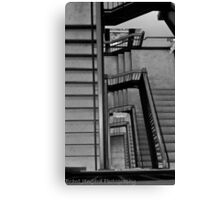 Stadium Staircase Canvas Print