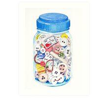 Button Jar Art Print