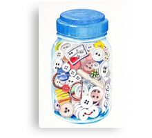 Button Jar Canvas Print