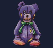 Purple Zombie Bear One Piece - Long Sleeve