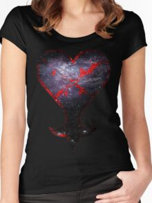 Kingdom Hearts Heartless grunge universe Women's Fitted Scoop T-Shirt