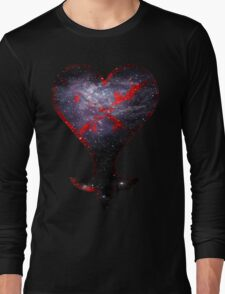 Kingdom Hearts Heartless grunge universe Long Sleeve T-Shirt