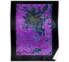USGS Topo Map Washington State WA Mt Rainier 242664 1924 125000 Inverted Poster