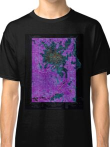 USGS Topo Map Washington State WA Mt Rainier 242664 1924 125000 Inverted Classic T-Shirt