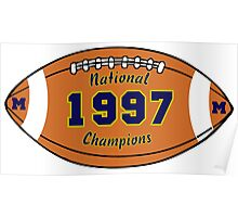 MICHIGAN: 1977 National Champions! Poster
