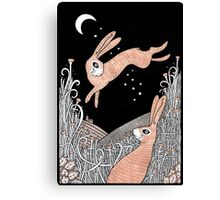 Star Crossed Hares Canvas Print