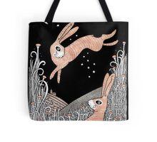 Star Crossed Hares Tote Bag