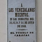 Plaque at Casa Paez, Valencia, Carabobo, Venezuela by KJWH