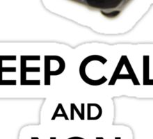 KEEP CALM AND DONT BREAK MY BALLS Sticker