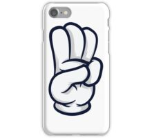 3 finger salute iPhone Case/Skin