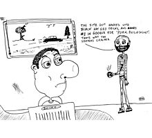 Why www servers crash editorial cartoon Photographic Print