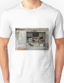 Barred Window in a Concrete Wall Unisex T-Shirt