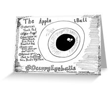 The Apple iBall editorial cartoon Greeting Card