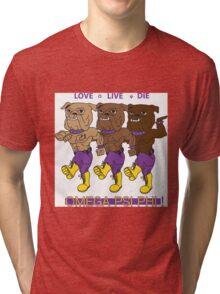 Omega Psi Phi - Love Live Die Dogs Tri-blend T-Shirt