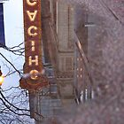 Chicago Theatre in a Puddle by apye