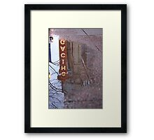 Chicago Theatre in a Puddle Framed Print